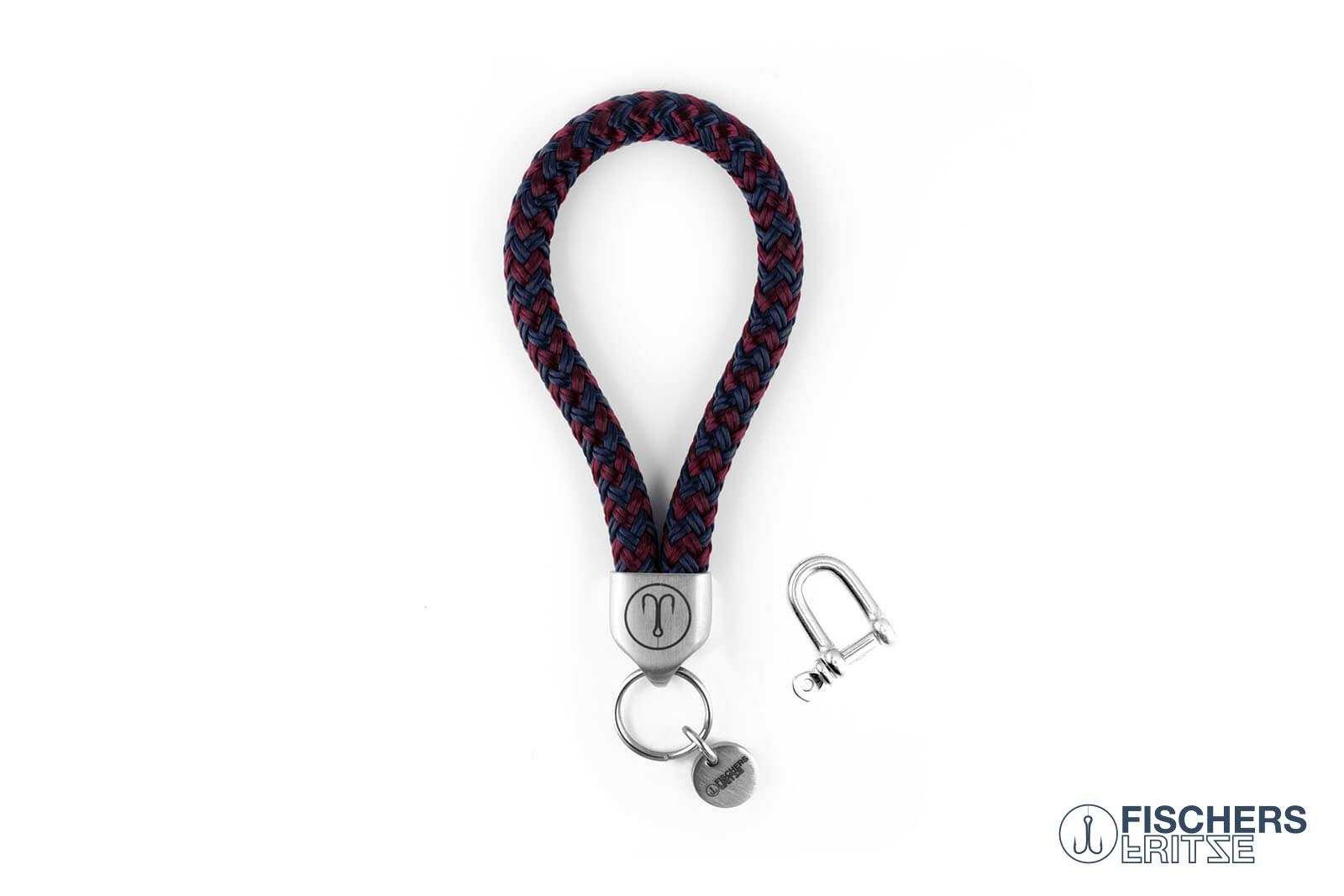 armband-fischers-fritze-dickerhering-marineblau-dunkelrot-segeltau-schaekel