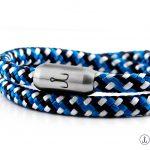 armband fischers fritze garnele blau gemustert segeltau magnetverschluss maritim