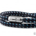 armband fischers fritze garnele ferdinand marineblau stahlblau grau segeltau magnetverschluss edelstahl