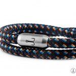 armband fischers fritze garnele orange marineblau segeltau magnetverschluss edelstahl