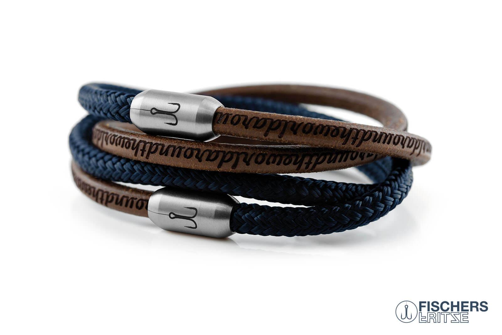 armband-fischers-fritze-kombigarnele-natur-gefettet-blau-leder-segeltau