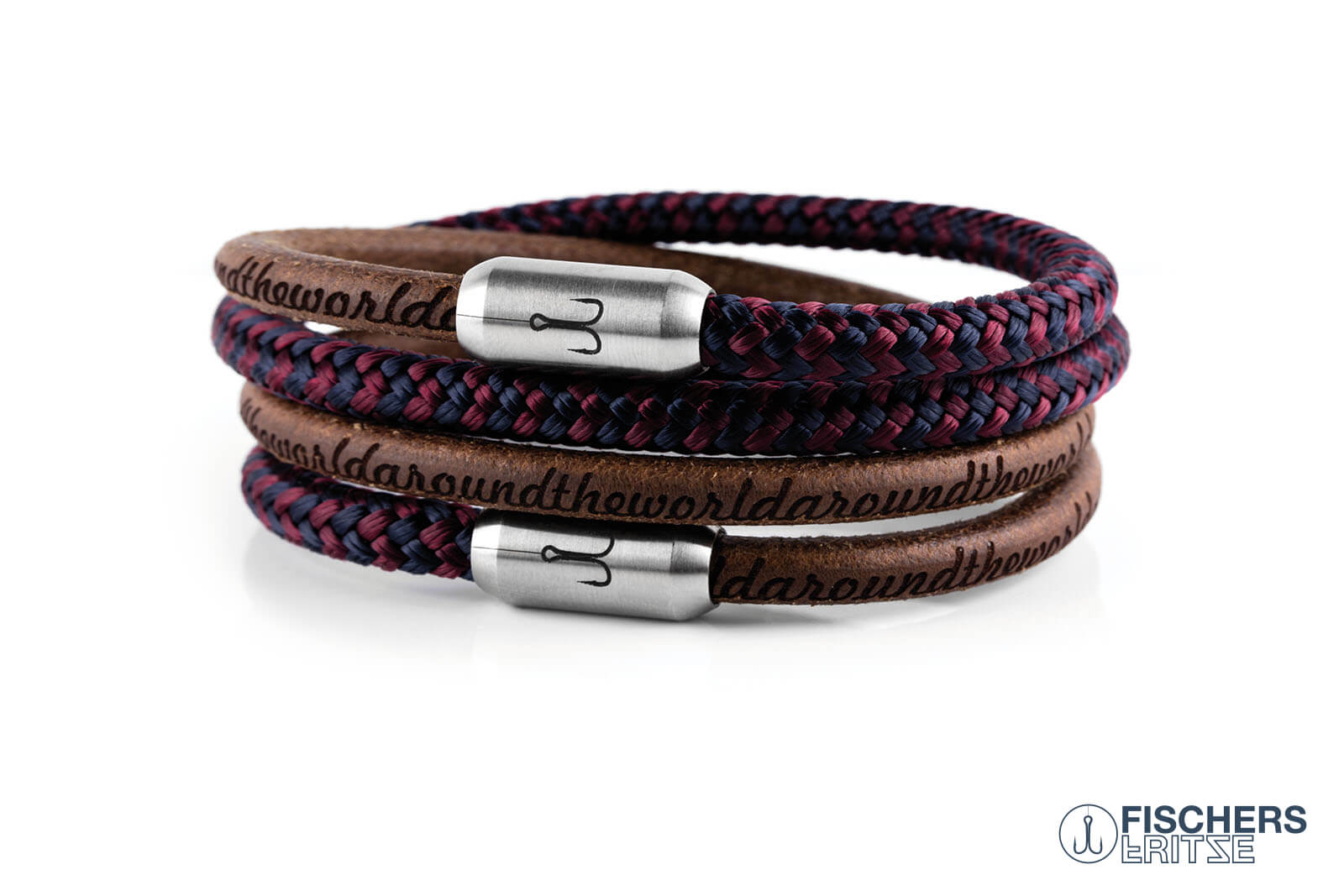 armband-fischers-fritze-kombigarnele-natur-gefettet-blau-rot-leder-segeltau