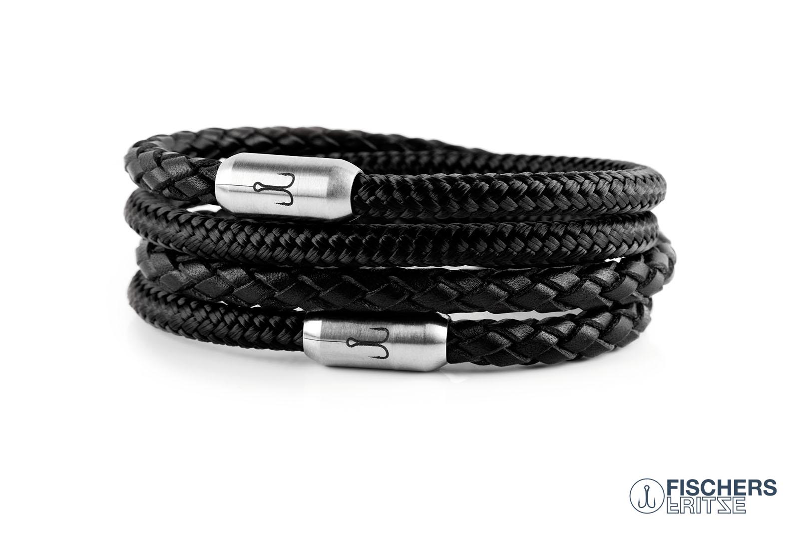 armband-fischers-fritze-kombigarnele-schwarz-geflochten-schwarz-leder-segeltau