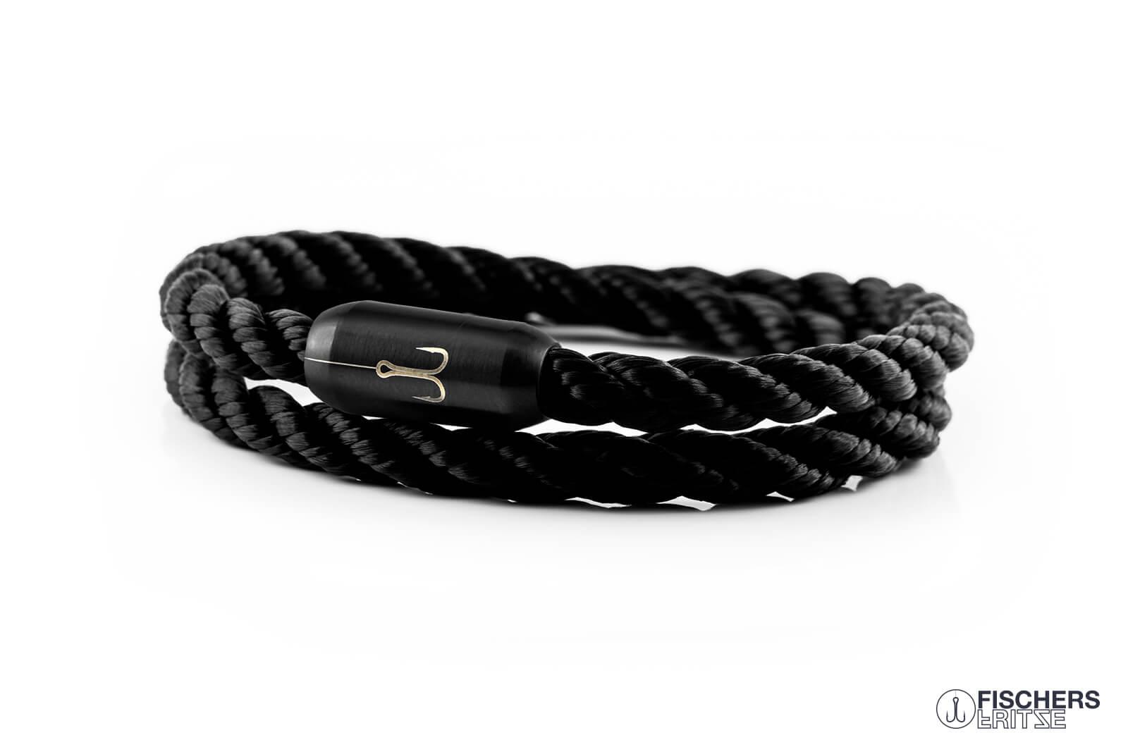 armband-fischers-fritze-torpedogarnele-schwarz-gedreht-segeltau