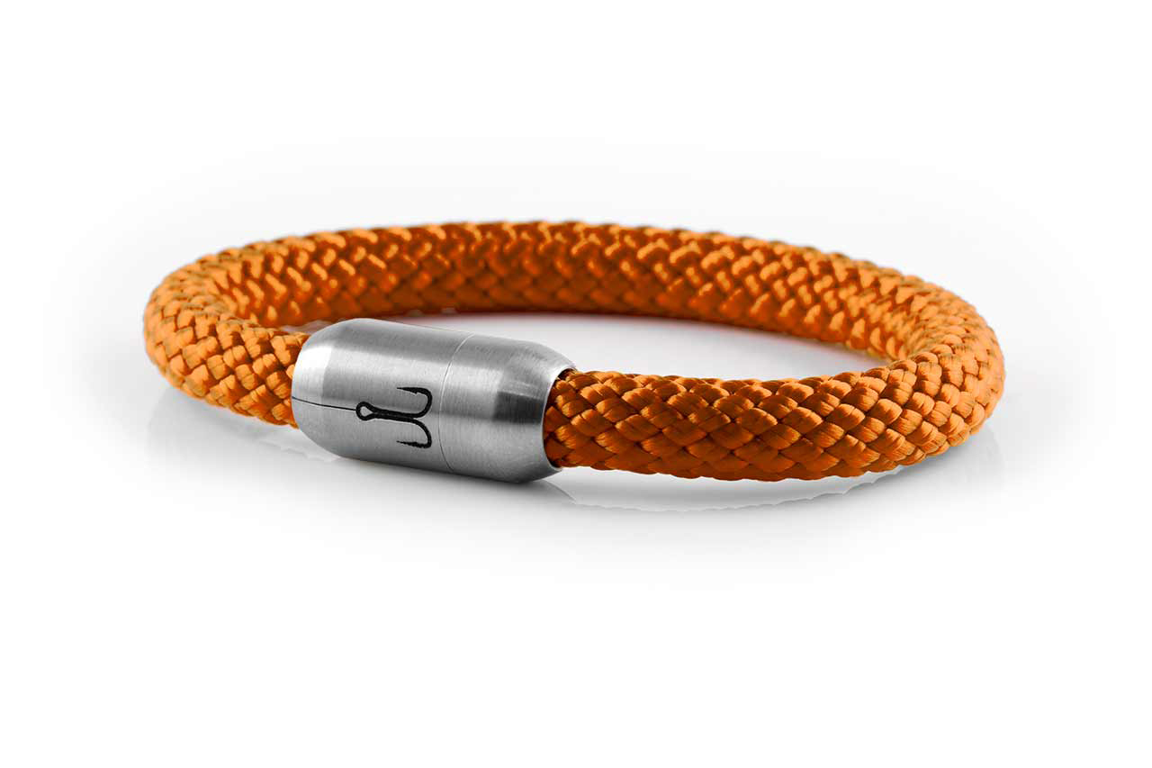 armband fischers fritze makrele orange segeltau edelstahl magnetverschluss amz