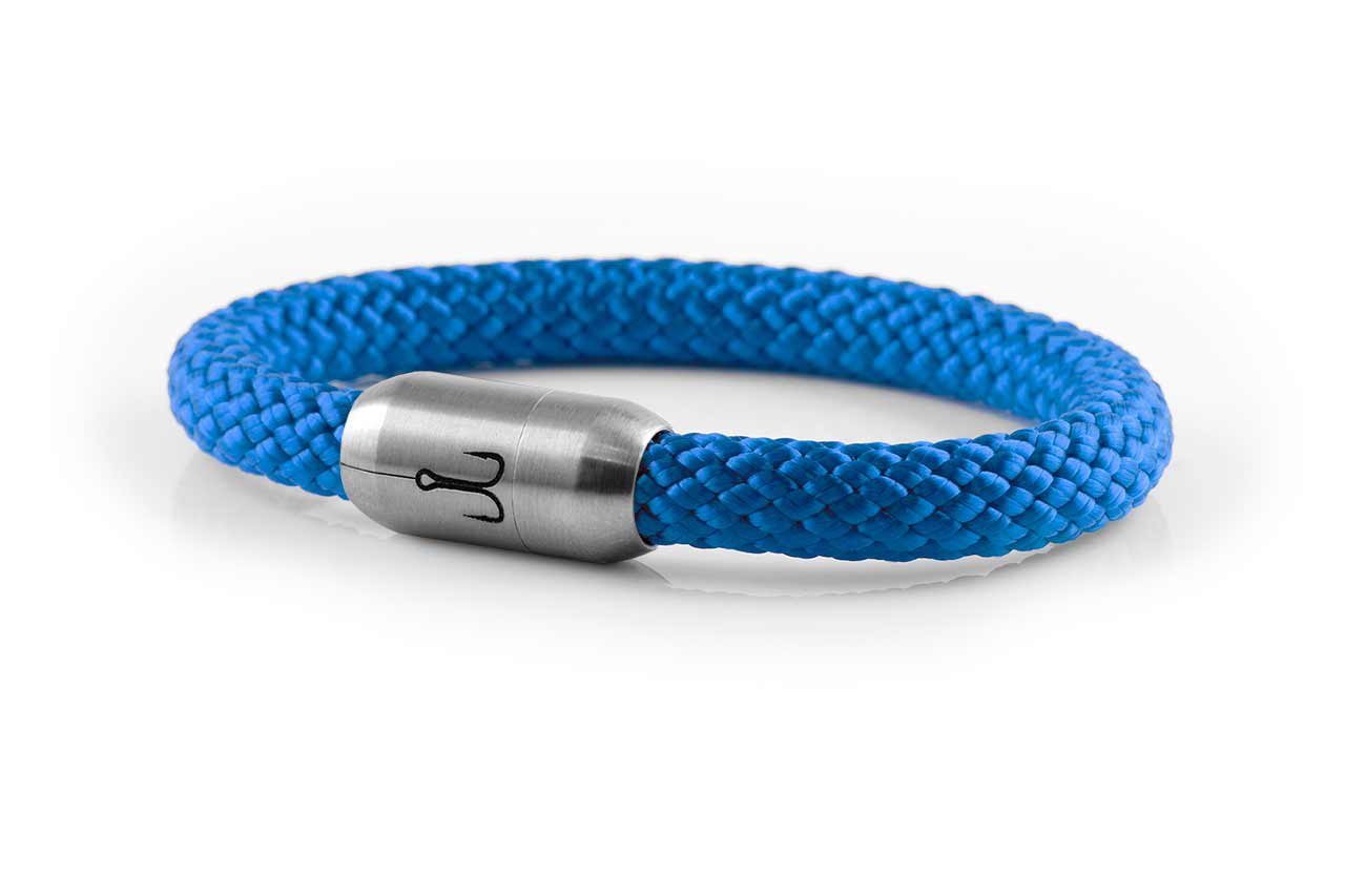 armband fischers fritze makrele stahlblau segeltau edelstahl magnetverschluss amz
