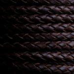 Hochwertiges, geflochtenes Leder braun aus der Region Alicante in Spanien