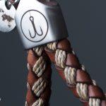 fischers fritze schluesselanhaenger keychain leder baumwolle fedor braun beige detail