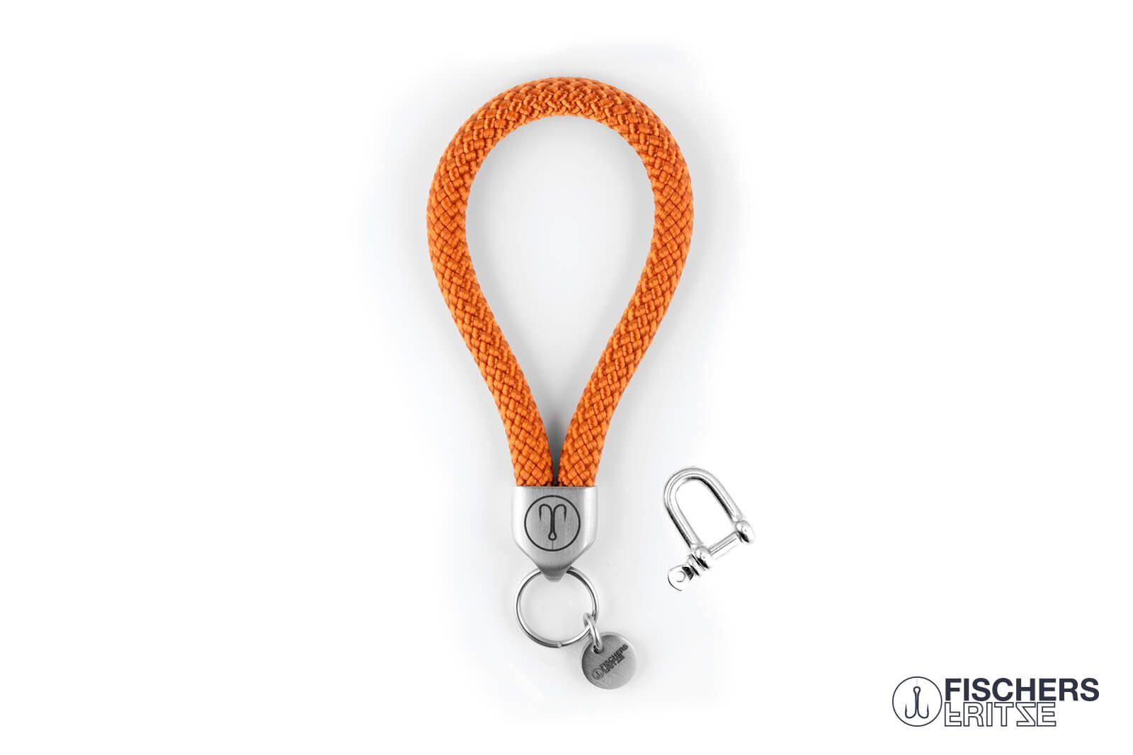 fischers fritze segeltau keychain schluesselanhaenger anker orange