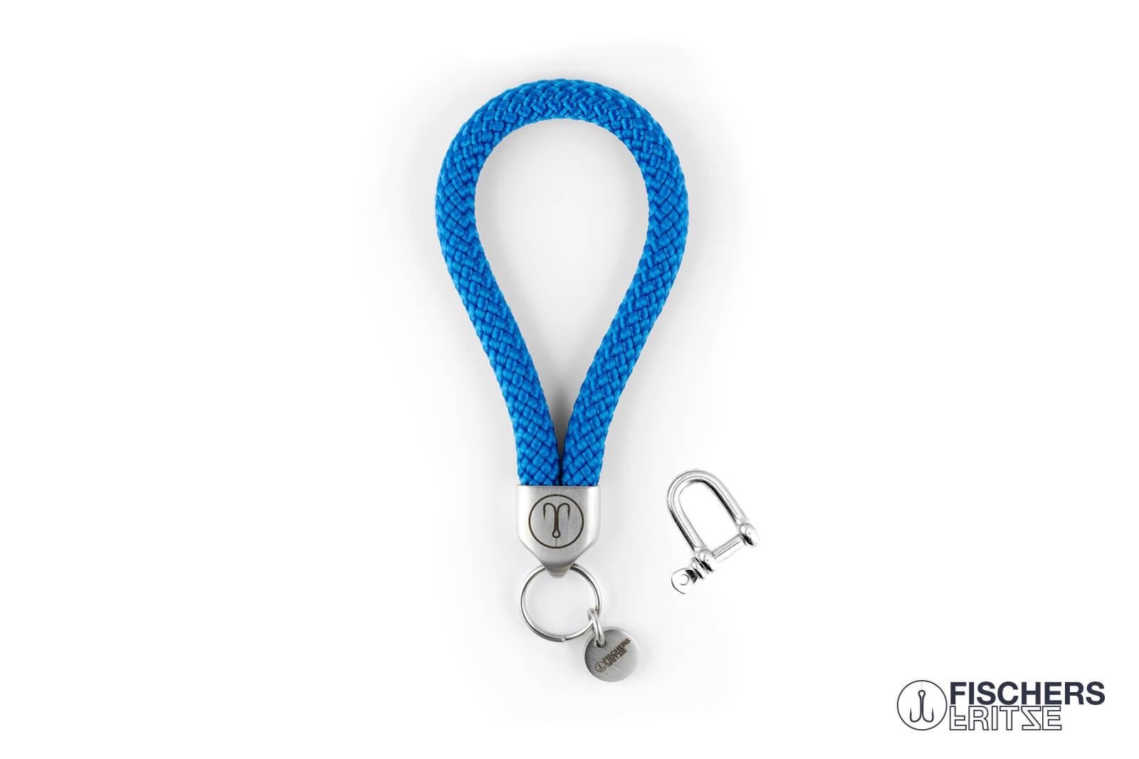 fischers-fritze-segeltau-keychain-schluesselanhaenger-anker-stahlblau